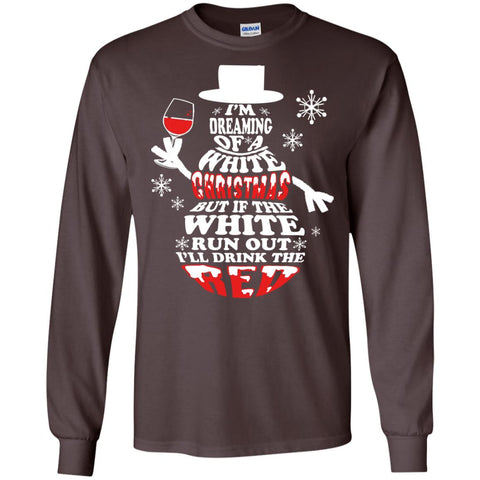 White Christmas Red Wine Long Sleeve