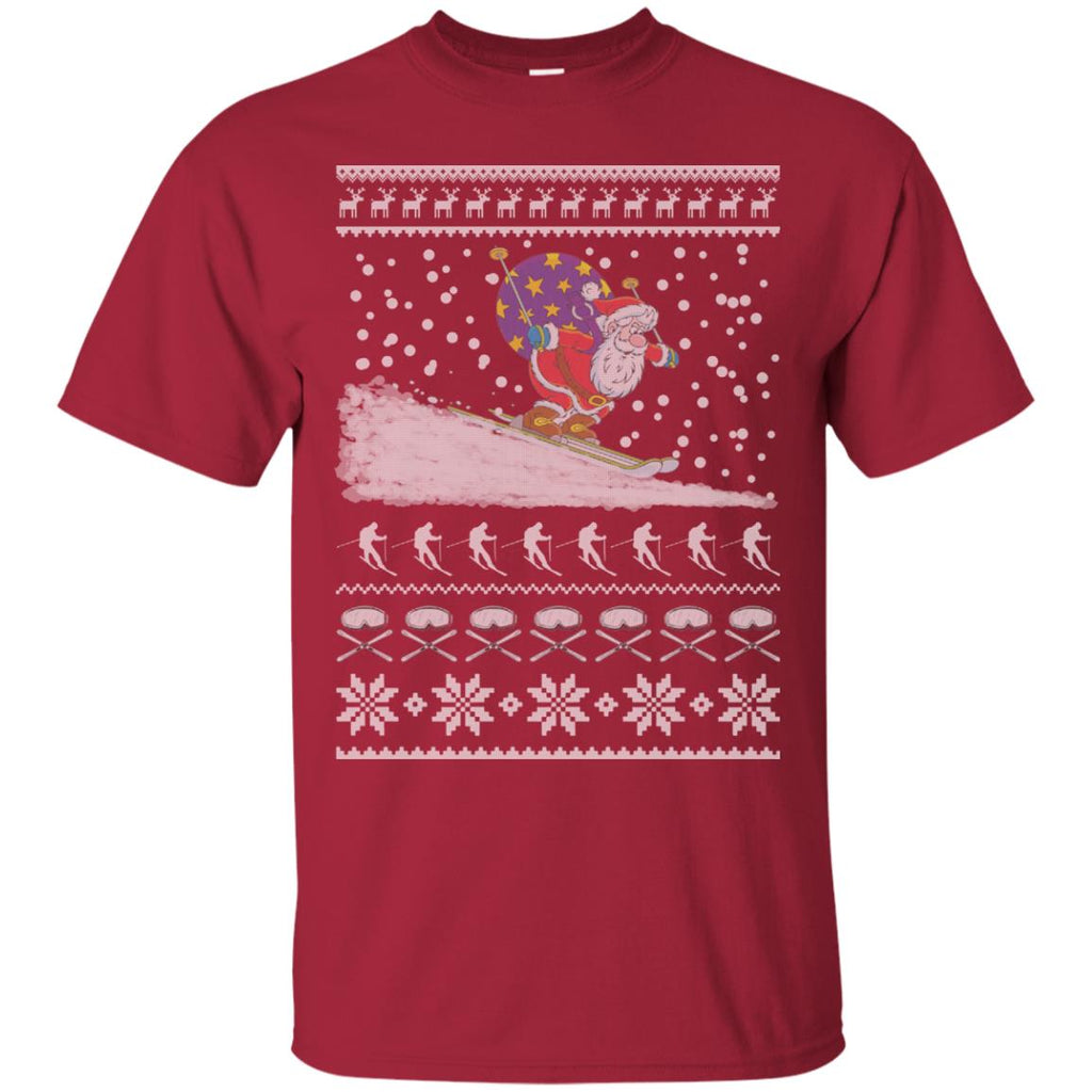 Skiing - Ugly Christmas Sweater Unisex T-Shirt
