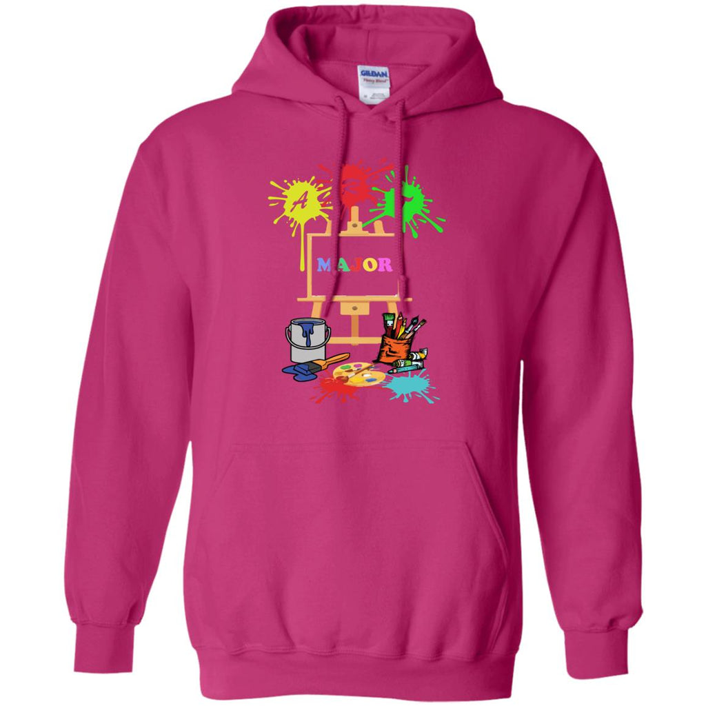 Art Major Palette Paints Watercolor Artist Acrylic Pullover Hoodie
