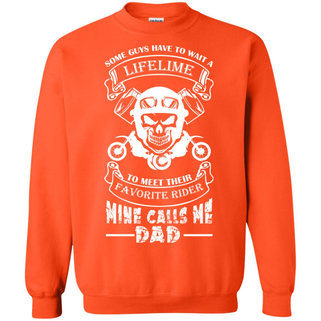 Favorite Motocross Rider - Mine Calls Me Dad Crewneck Sweatshirt