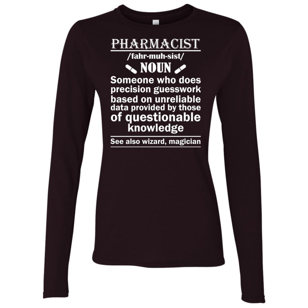 Pharmacist Definition Wizard Magician Women's Long Sleeve