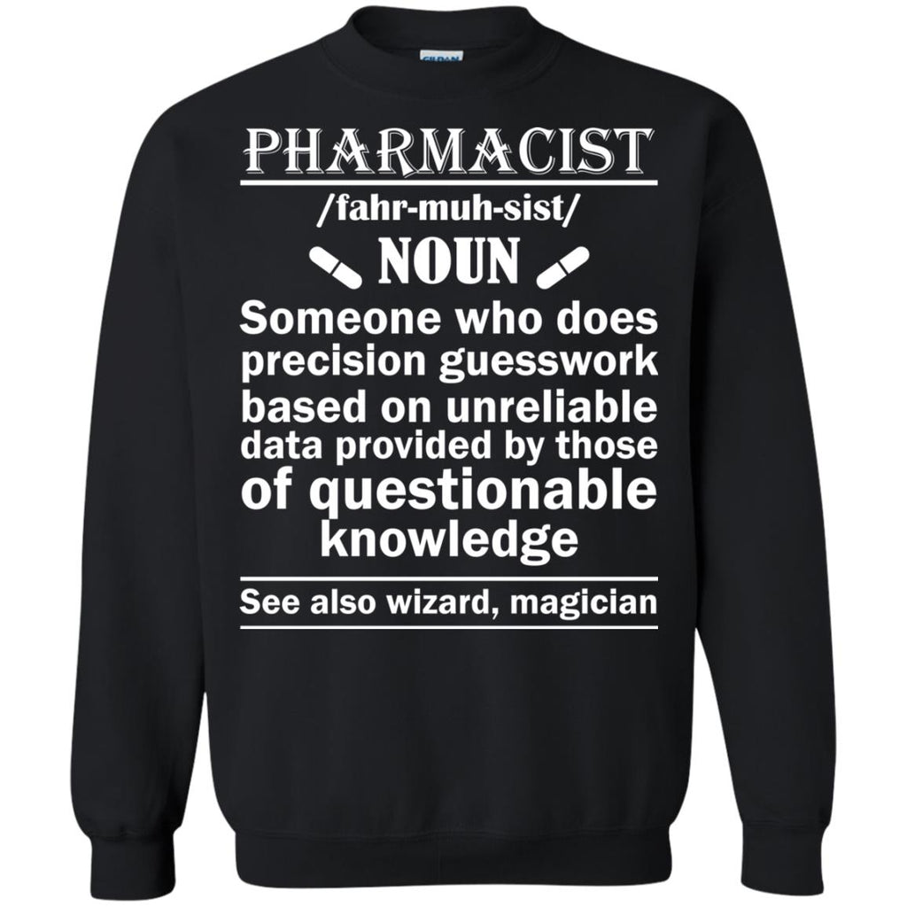 Pharmacist Definition Wizard Magician Crewneck Sweatshirt