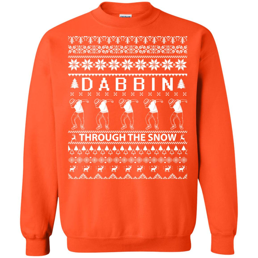 Dabbing Through The Snow Funny Christmas Crewneck Sweatshirt