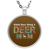 Image of KINDA BUSY BEING A DEER MOM Necklace