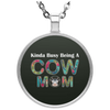 Image of KINDA BUSY BEING A COW MOM Necklace
