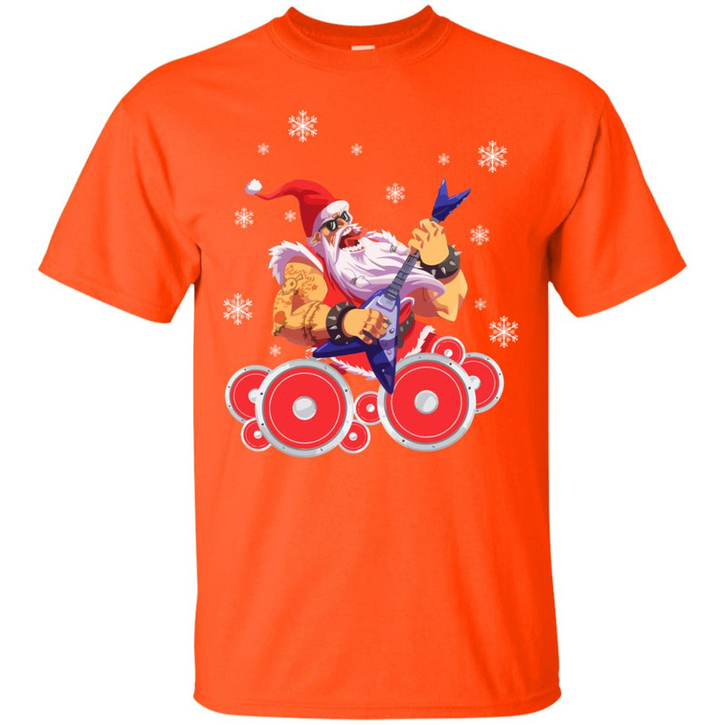 Rock Star Santa Claus Father Christmas Unisex T-Shirt