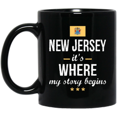 New Jersey IT'S WHRE MY STORY BEGINS Classic Black Mug