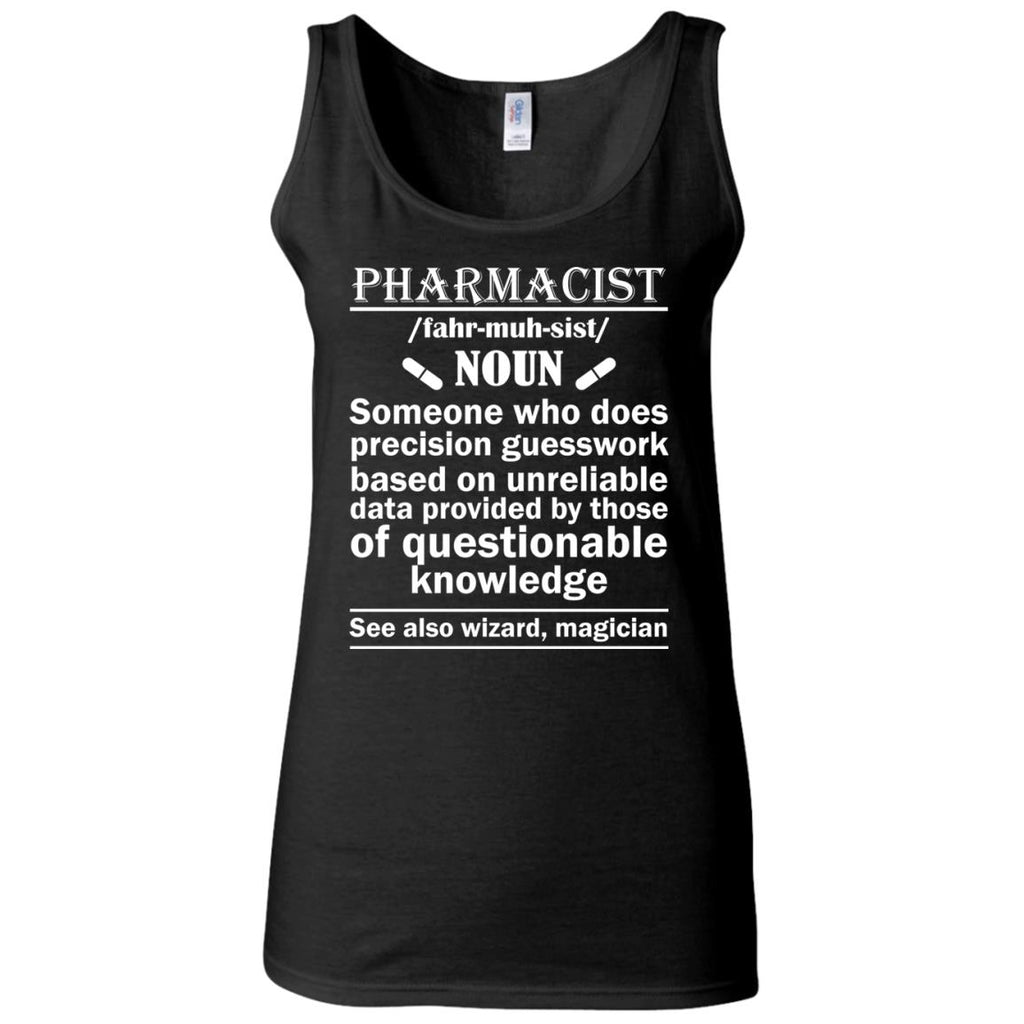 Pharmacist Definition Wizard Magician Women's Fitted Tank