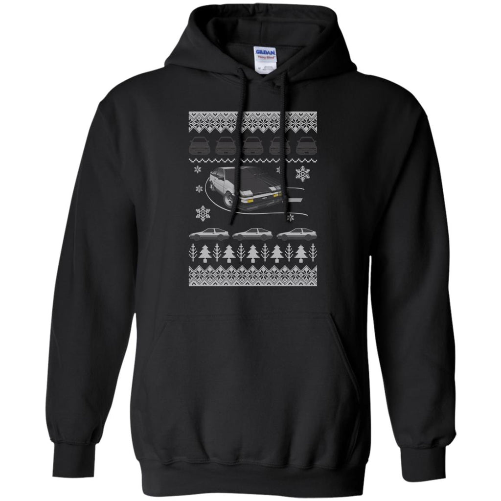 Awesome Ugly Christmas Drifting AE86 Pullover Hoodie