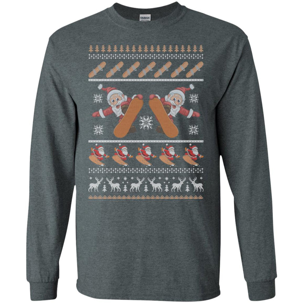 Snowboard Ugly Christmas Sweater Long Sleeve