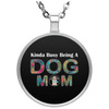 Image of KINDA BUSY BEING A DOG MOM Necklace