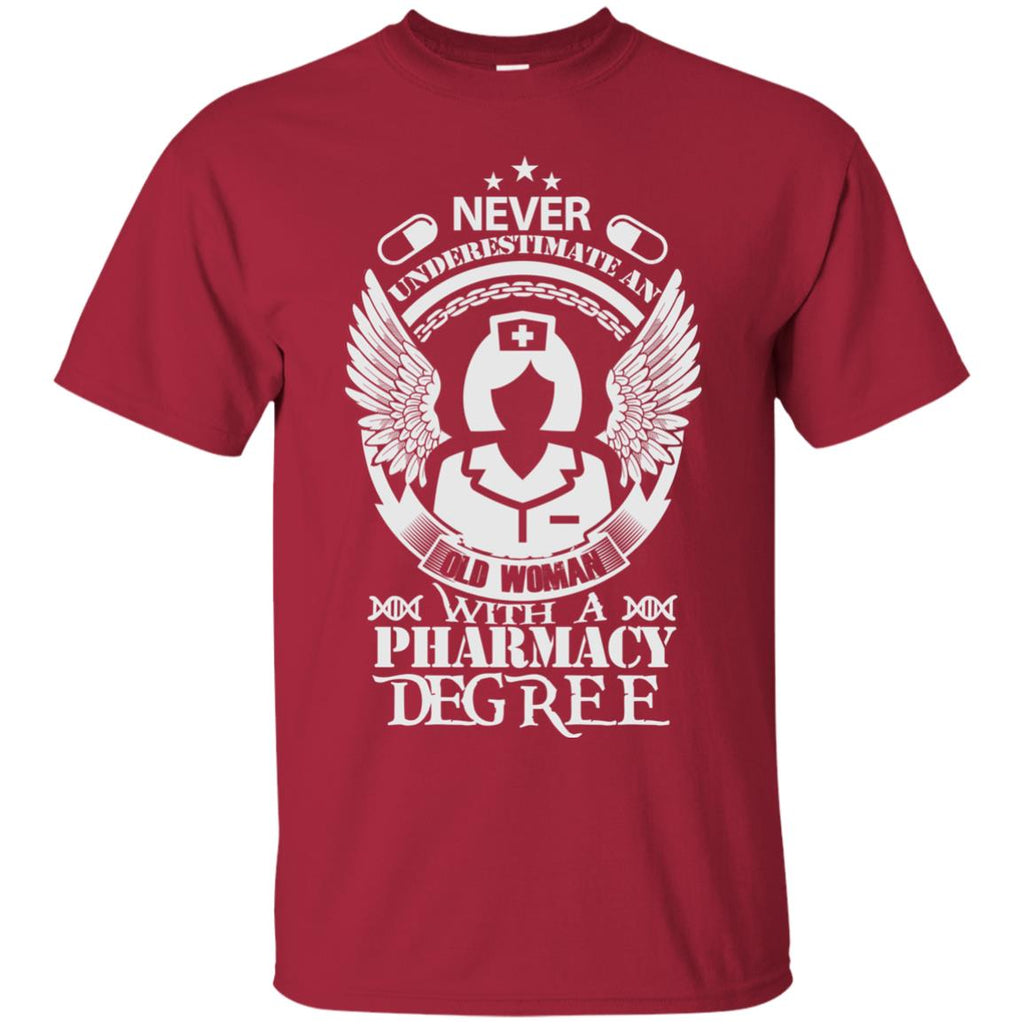 Old Woman with a Pharmacy Degree Unisex T-Shirt