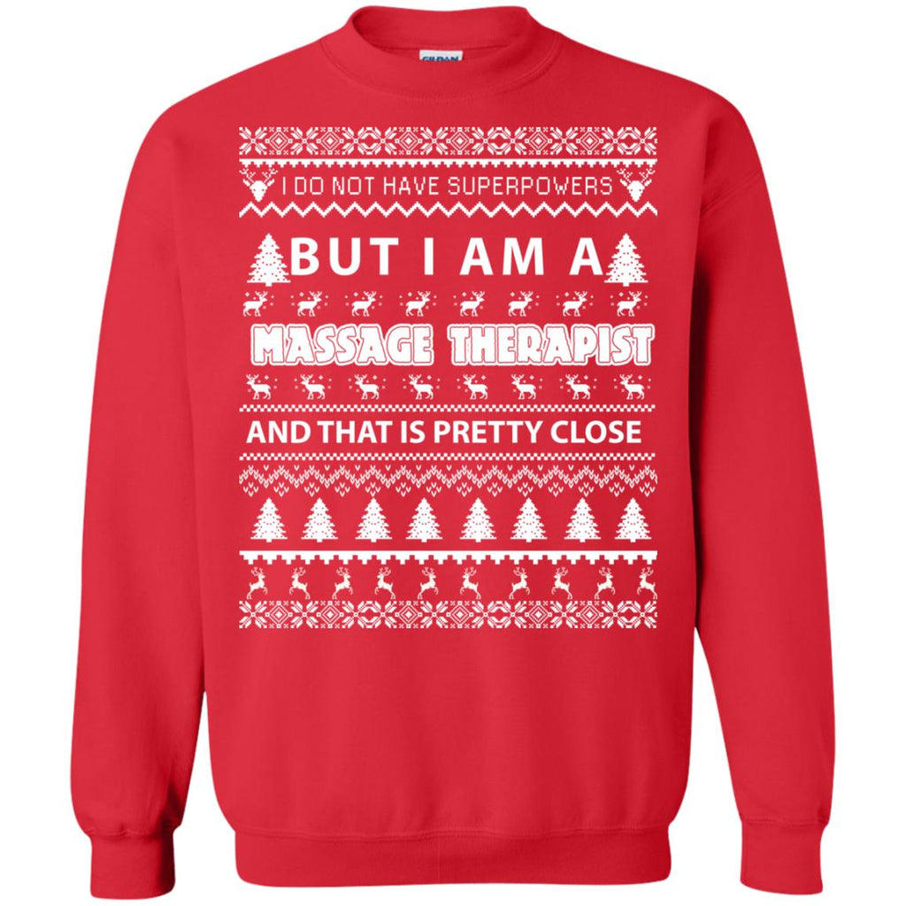 Merry Christmas Massage Therapist Crewneck Sweatshirt