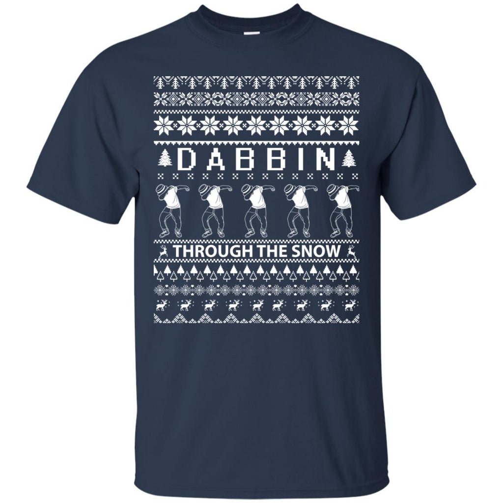 Dabbing Through The Snow Funny Christmas Unisex T-Shirt