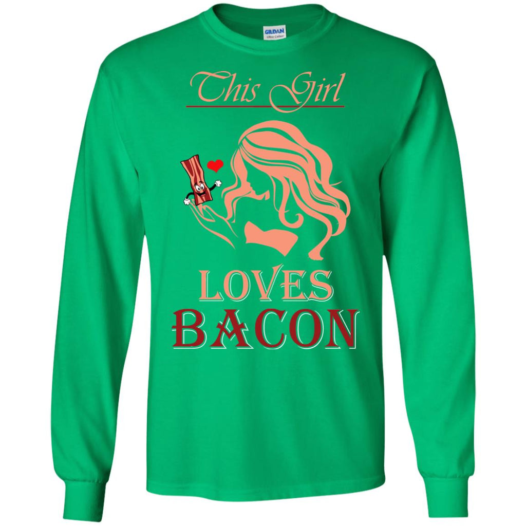 This Girl Loves Bacon Ladies Long Sleeve