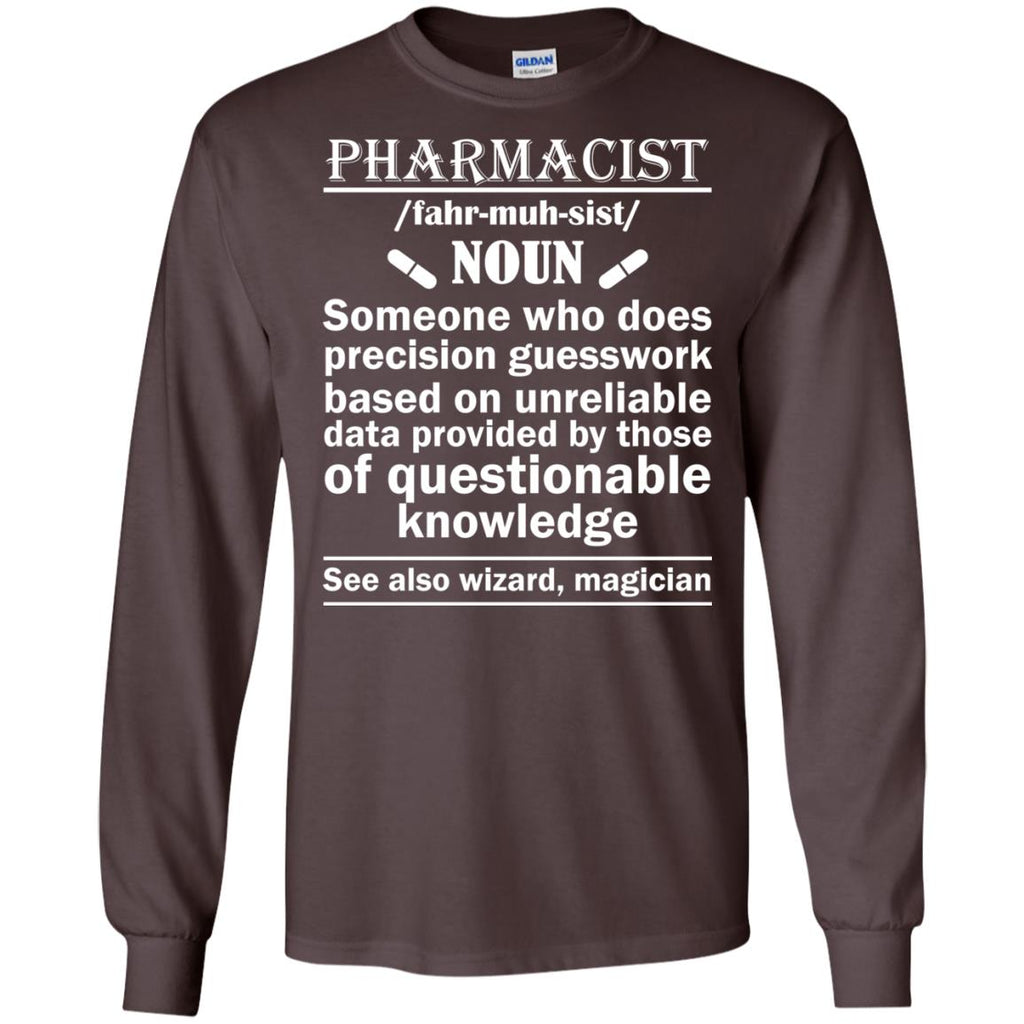 Pharmacist Definition Wizard Magician Long Sleeve