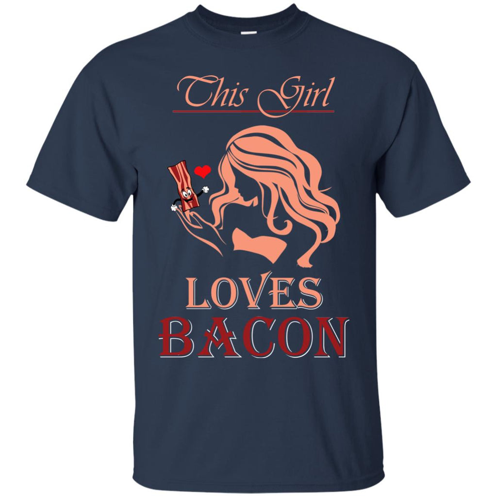 This Girl Loves Bacon Ladies Unisex T-Shirt