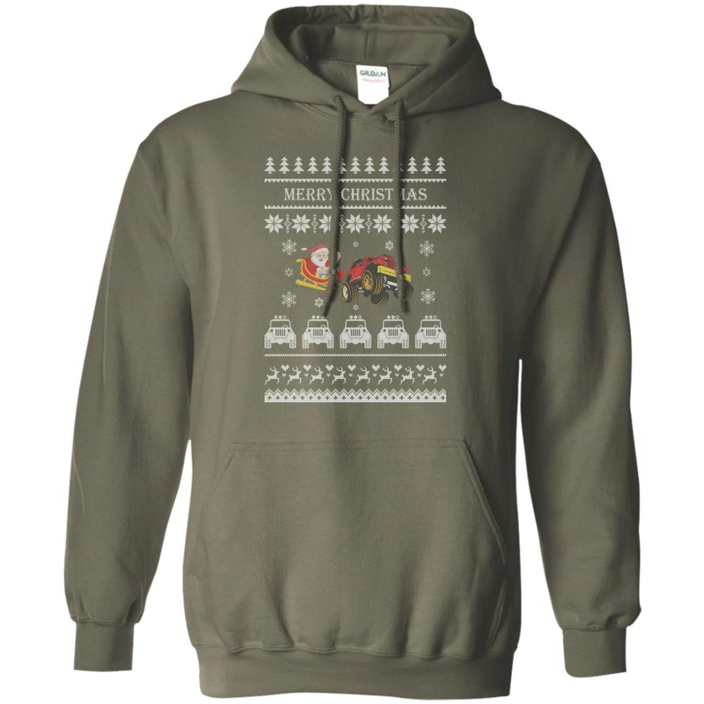 Happy Christmas J-E-E-P-S Ugly Sweater 2 Pullover Hoodie