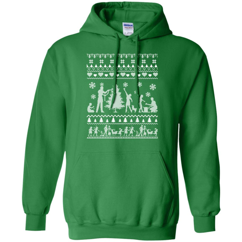 FIRST CHRISTMAS AS MOMMY AND DADDY Pullover Hoodie