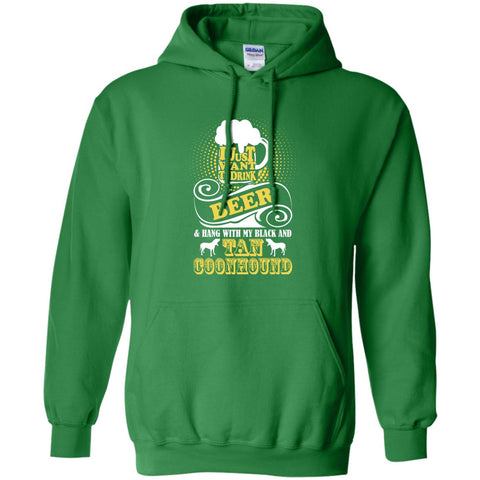 Beer & Hang With Black and Tan Coonhound Pullover Hoodie