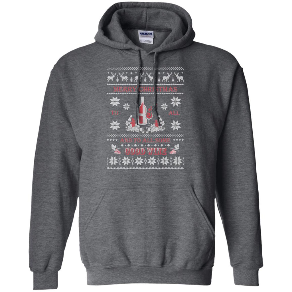 Awesome Ugly Christmas Wine Lover Pullover Hoodie