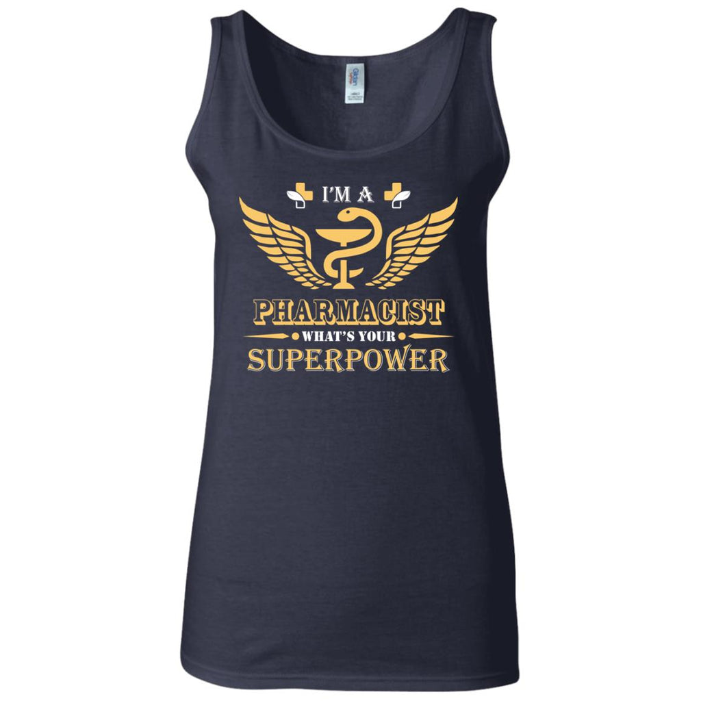 I'm A Pharmacist What's Your Superpower Women's Fitted Tank