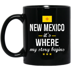New Mexico IT'S WHRE MY STORY BEGINS Classic Black Mug