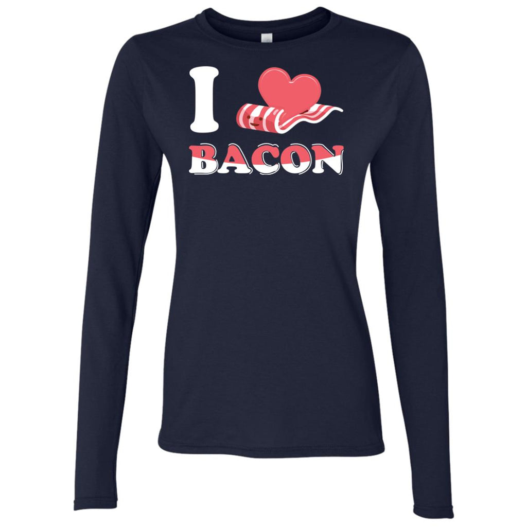 I Love Bacon Women's Long Sleeve