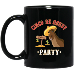 CINCO DE DERBY  PARTY Black Mug