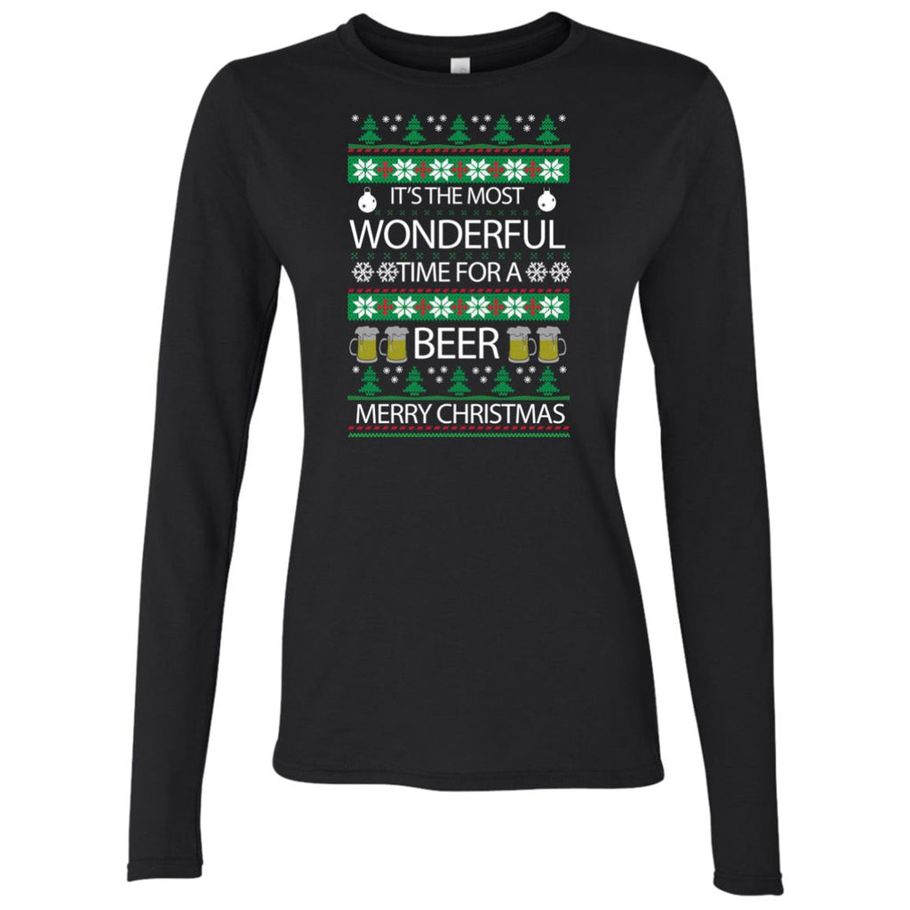 wonderful time for beer Women's Long Sleeve