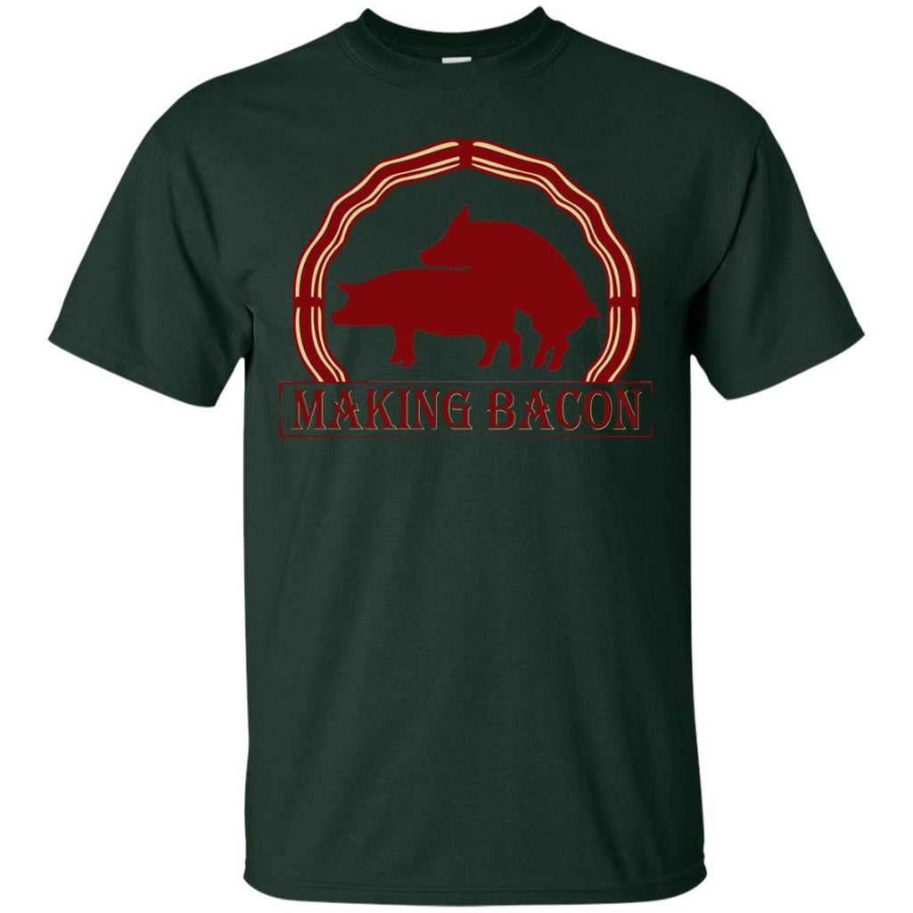 FUNNY PIG MAKING BACON Unisex T-Shirt