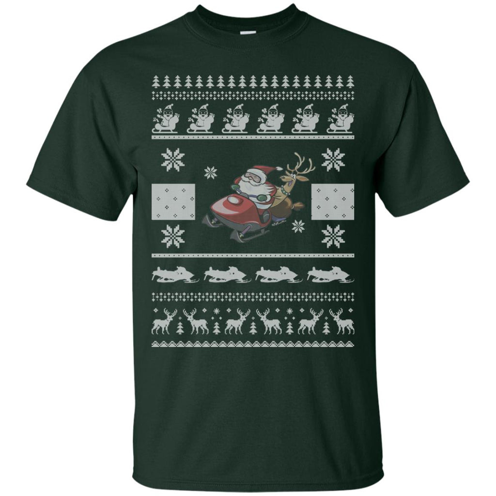 snowmobile christmas ugly sweater 2 Unisex T-Shirt