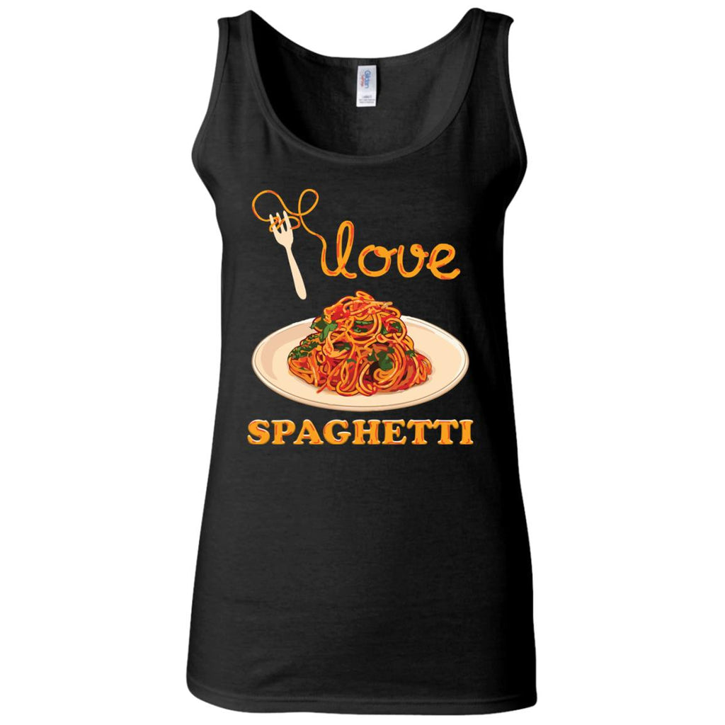 I Love Spaghetti Women's Fitted Tank