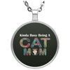 Image of KINDA BUSY BEING A CAT MOM Necklace