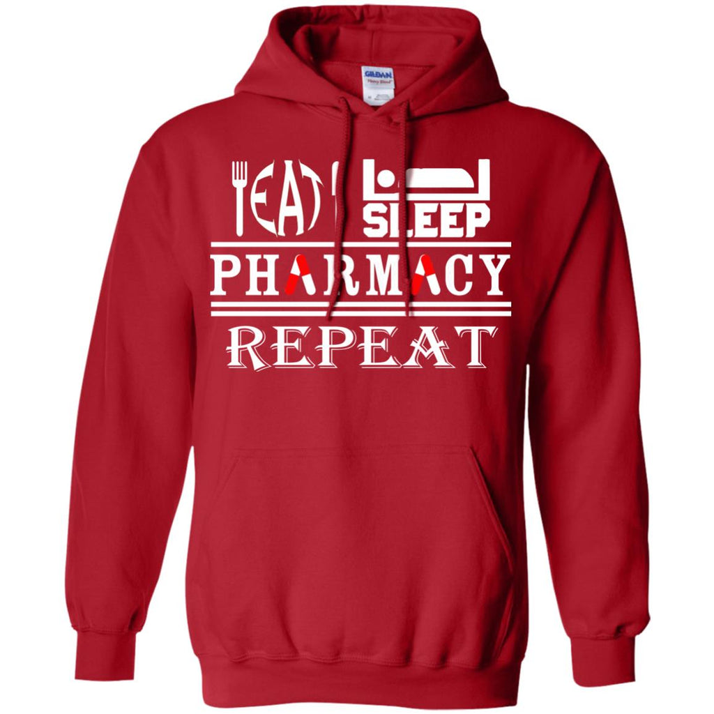Eat Sleep Pharmacy Repeat Pullover Hoodie