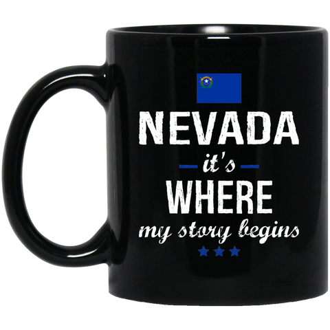 Nevada IT'S WHRE MY STORY BEGINS Classic Black Mug
