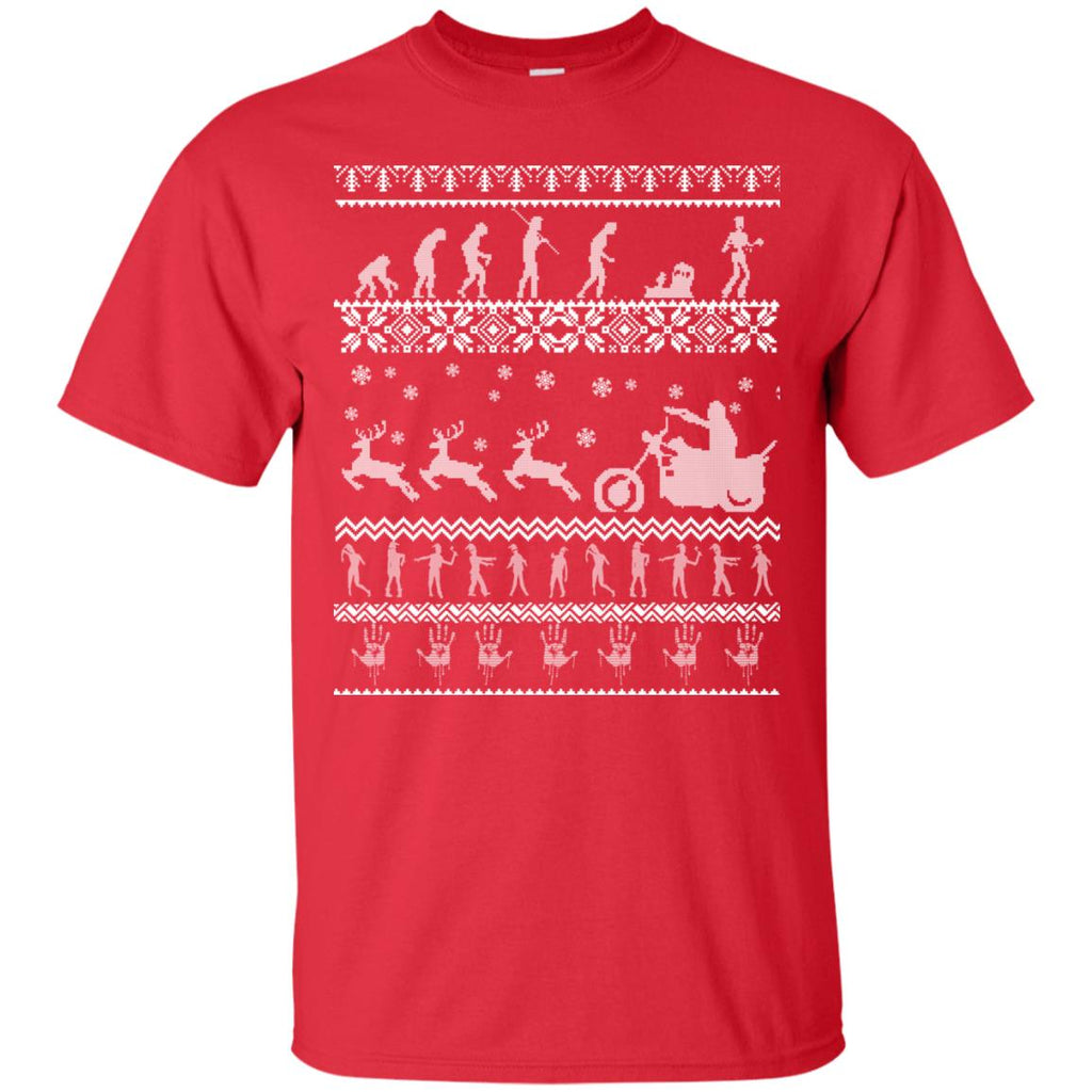 Christmas Ugly Walking The Dead Unisex T-Shirt