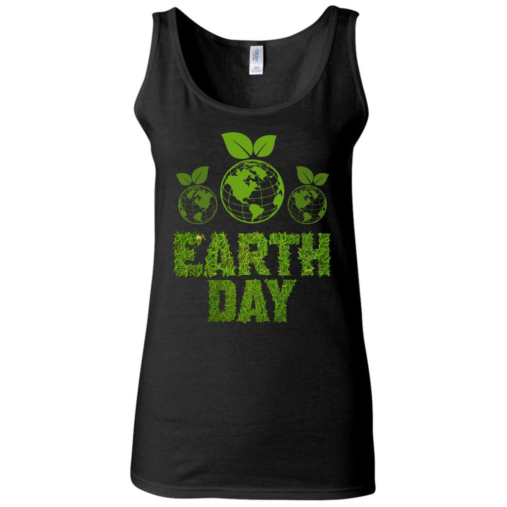 National Earth Day Women's Fitted Tank