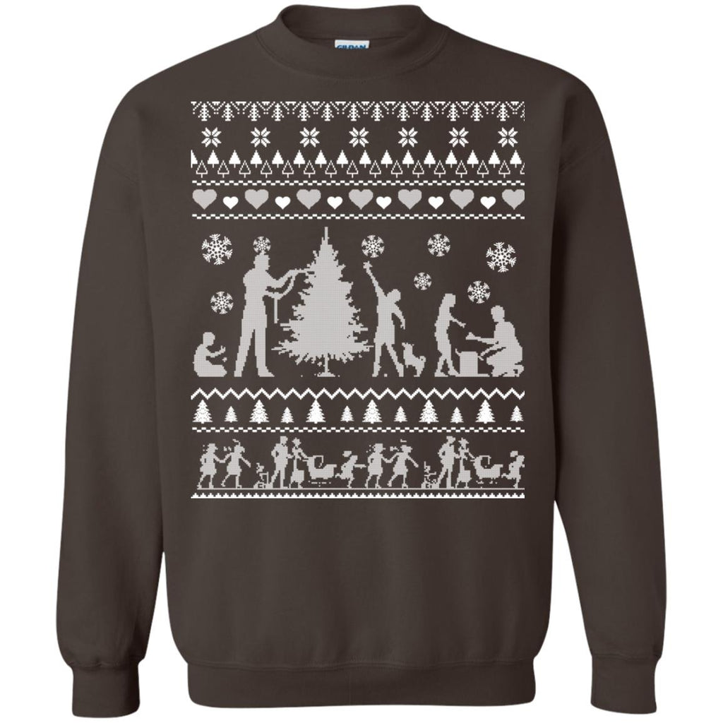 FIRST CHRISTMAS AS MOMMY AND DADDY Crewneck Sweatshirt