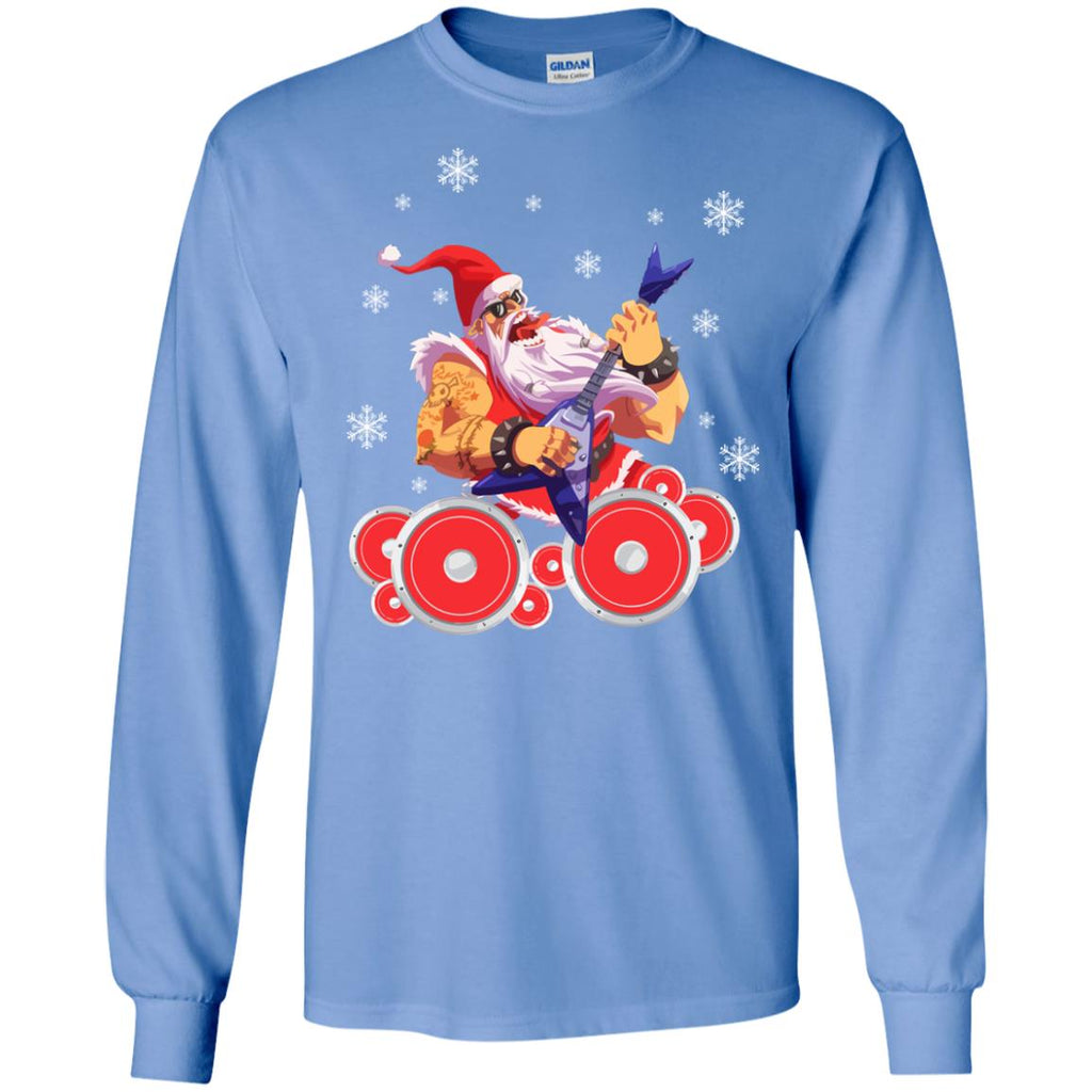 Rock Star Santa Claus Father Christmas Long Sleeve