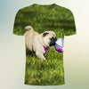 Image of Pug soccer  3d T-Shirt