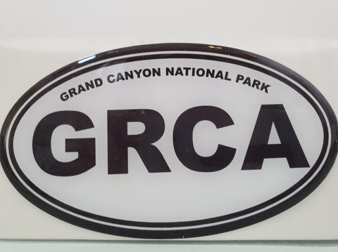 Decal Oval Black/White GRCA
