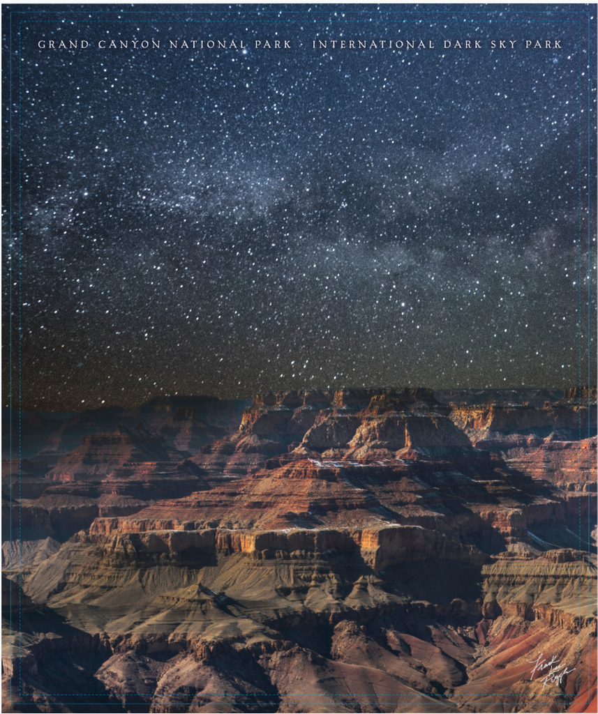 Dark Skies Grand Canyon Plush Blanket