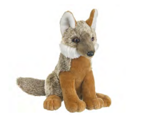 "Plush 10"" Grey Fox"