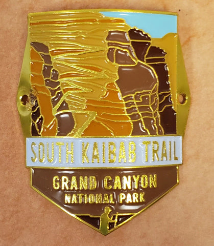 South Kaibab Trail: Grand Canyon National Park Walking Stick Medallion