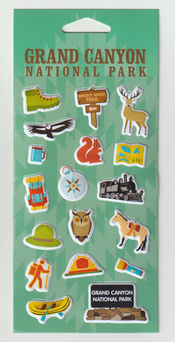 Grand Canyon Puffy Sticker Set