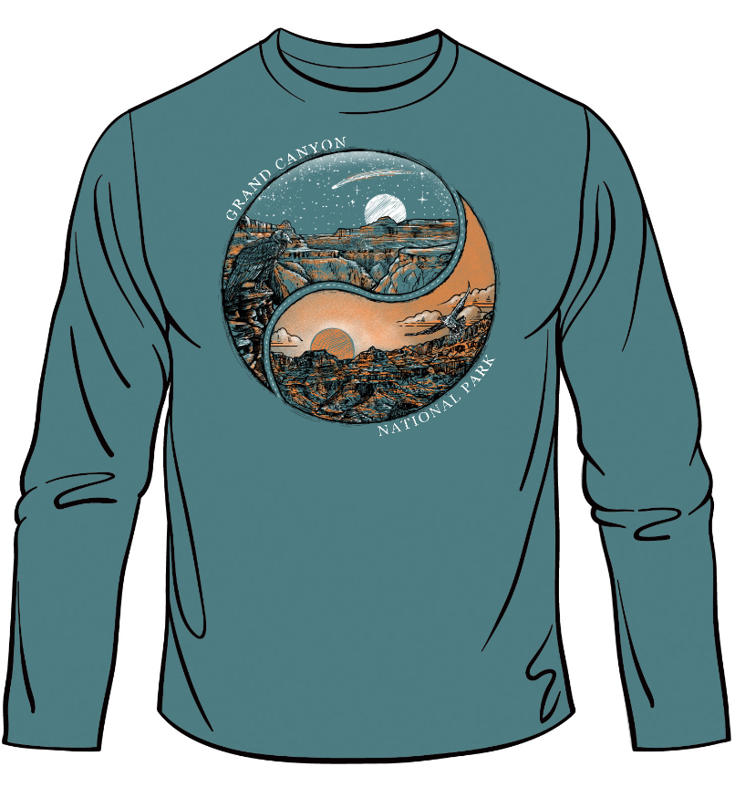 Grand Canyon Yin Yang Long Sleeve Tee