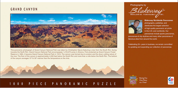 "Grand Canyon 1000 PC Panoramic Puzzle 13"" x 39"""