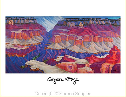 Serena Supplee Print - Canyon Story