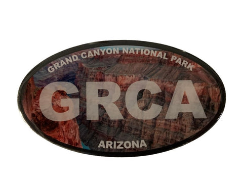 Decal Oval Grand Canyon Scene w/ GRCA